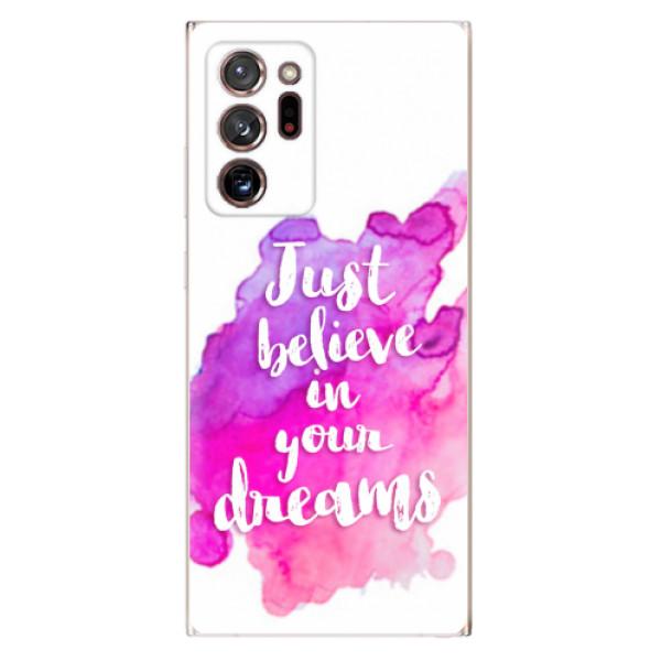 Odolné silikonové pouzdro iSaprio - Believe - Samsung Galaxy Note 20 Ultra