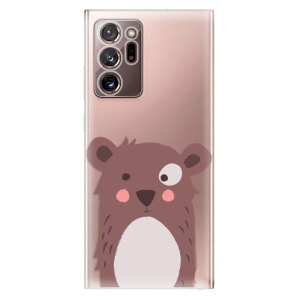 Odolné silikonové pouzdro iSaprio - Brown Bear - Samsung Galaxy Note 20 Ultra
