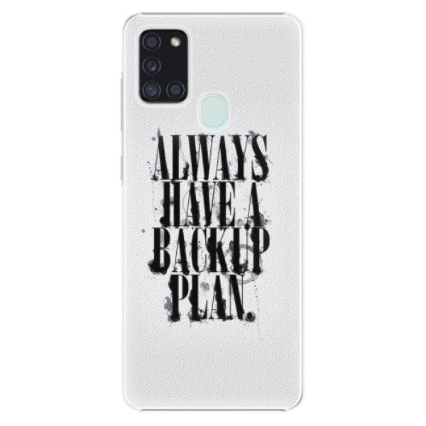 Plastové pouzdro iSaprio - Backup Plan - Samsung Galaxy A21s
