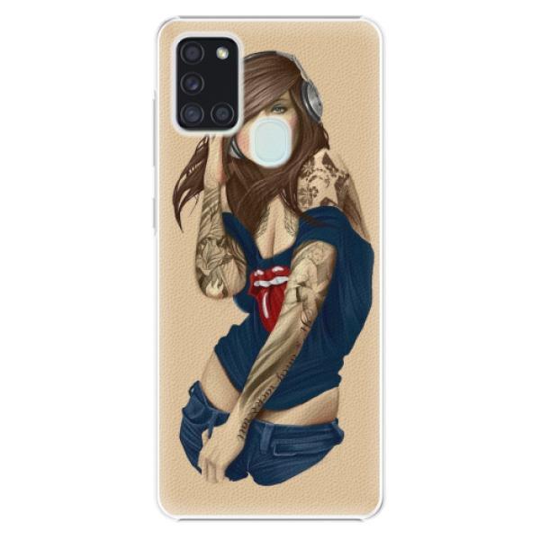 Plastové pouzdro iSaprio - Girl 03 - Samsung Galaxy A21s