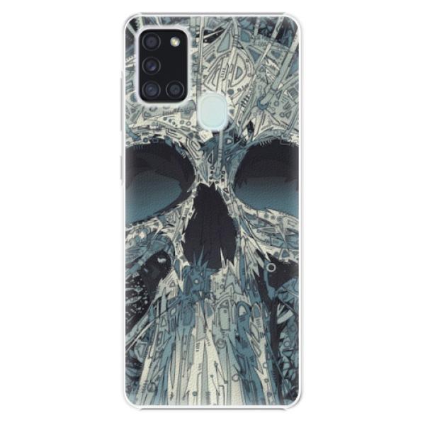 Plastové pouzdro iSaprio - Abstract Skull - Samsung Galaxy A21s