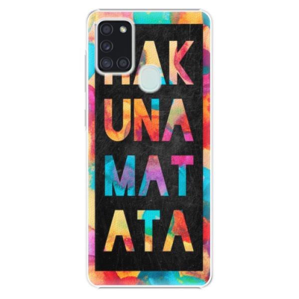 Plastové pouzdro iSaprio - Hakuna Matata 01 - Samsung Galaxy A21s