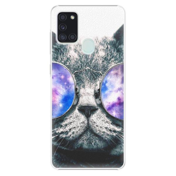 Plastové pouzdro iSaprio - Galaxy Cat - Samsung Galaxy A21s
