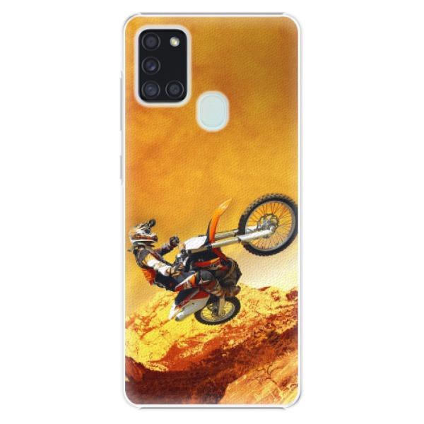 Plastové pouzdro iSaprio - Motocross - Samsung Galaxy A21s