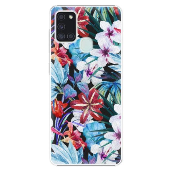 Plastové pouzdro iSaprio - Tropical Flowers 05 - Samsung Galaxy A21s