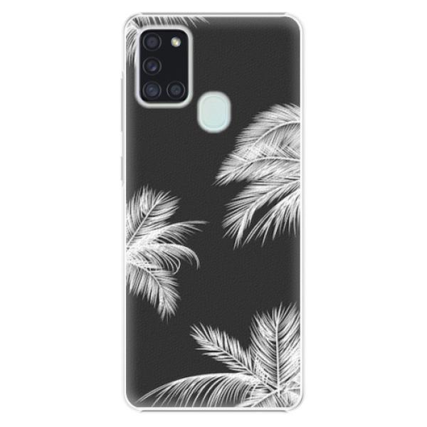 Plastové pouzdro iSaprio - White Palm - Samsung Galaxy A21s