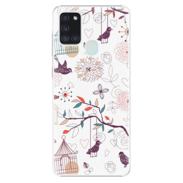Plastové pouzdro iSaprio - Birds - Samsung Galaxy A21s