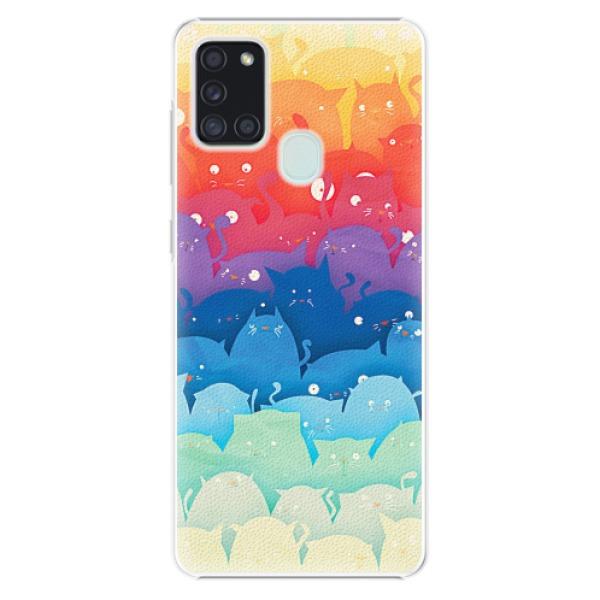 Plastové pouzdro iSaprio - Cats World - Samsung Galaxy A21s