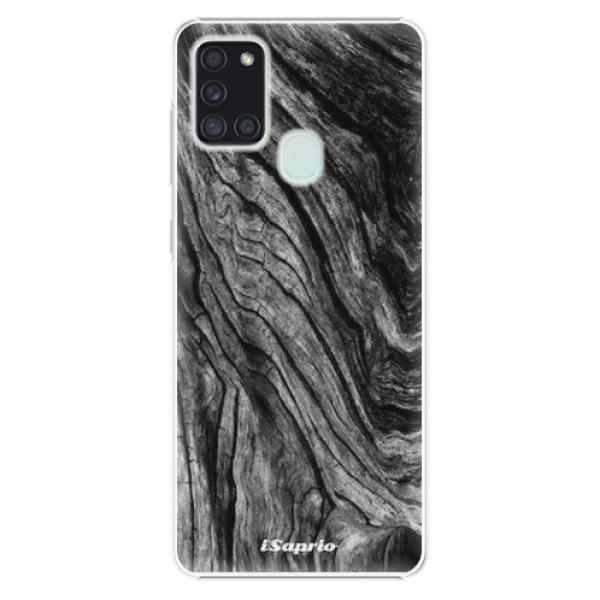 Plastové pouzdro iSaprio - Burned Wood - Samsung Galaxy A21s
