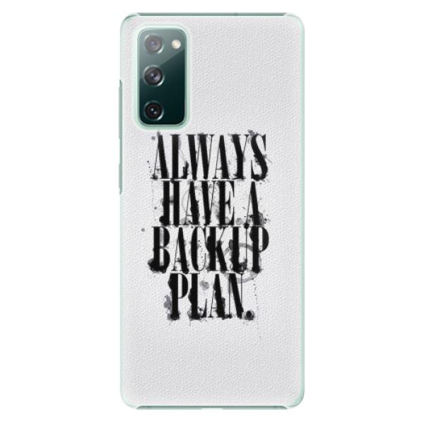 Plastové pouzdro iSaprio - Backup Plan - Samsung Galaxy S20 FE
