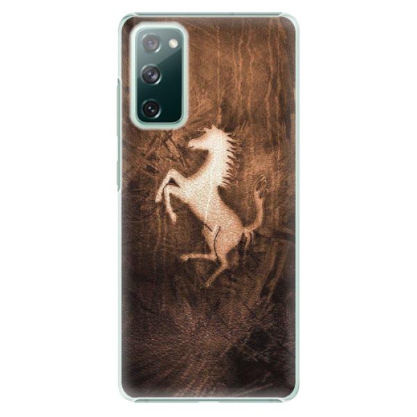 Plastové pouzdro iSaprio - Vintage Horse - Samsung Galaxy S20 FE