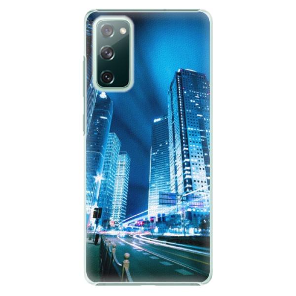 Plastové pouzdro iSaprio - Night City Blue - Samsung Galaxy S20 FE