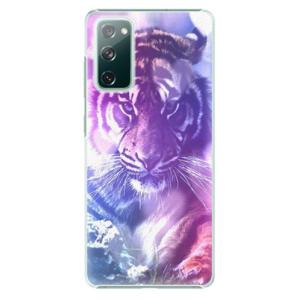Plastové pouzdro iSaprio - Purple Tiger - Samsung Galaxy S20 FE