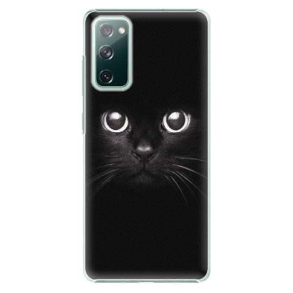 Plastové pouzdro iSaprio - Black Cat - Samsung Galaxy S20 FE