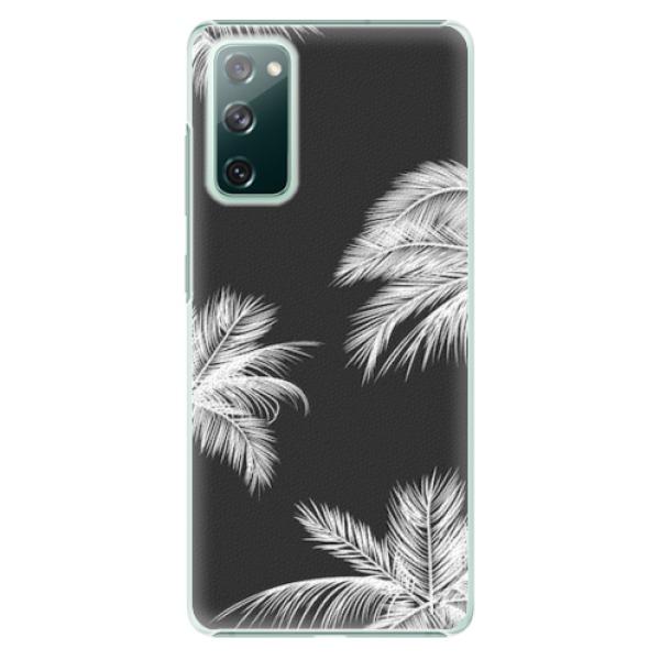 Plastové pouzdro iSaprio - White Palm - Samsung Galaxy S20 FE