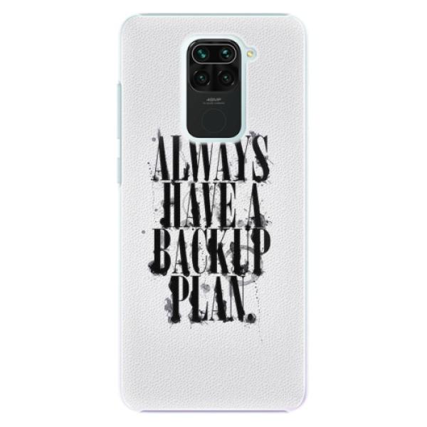 Plastové pouzdro iSaprio - Backup Plan - Xiaomi Redmi Note 9