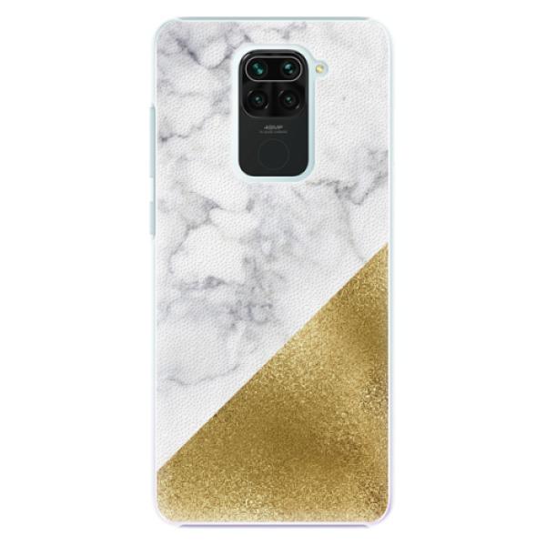 Plastové pouzdro iSaprio - Gold and WH Marble - Xiaomi Redmi Note 9