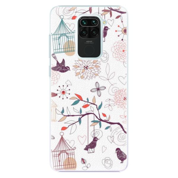 Plastové pouzdro iSaprio - Birds - Xiaomi Redmi Note 9