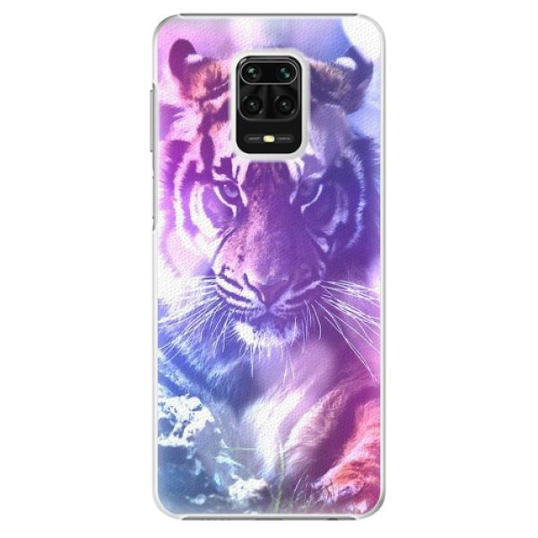 Plastové pouzdro iSaprio - Purple Tiger - Xiaomi Redmi Note 9 Pro / Note 9S