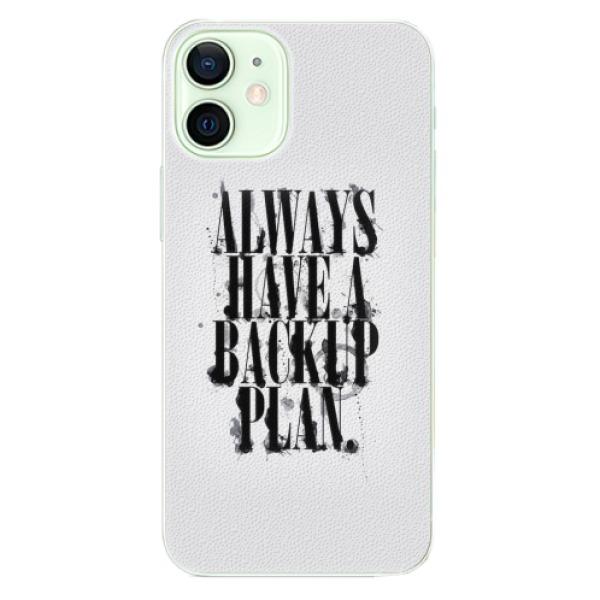 Plastové pouzdro iSaprio - Backup Plan - iPhone 12 mini