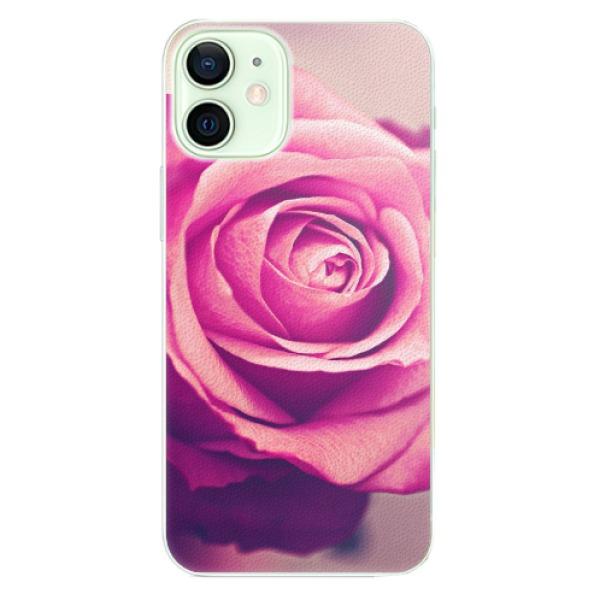 Plastové pouzdro iSaprio - Pink Rose - iPhone 12 mini