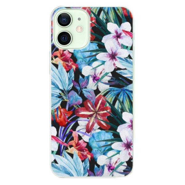 Plastové pouzdro iSaprio - Tropical Flowers 05 - iPhone 12 mini