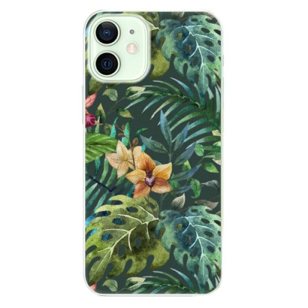 Plastové pouzdro iSaprio - Tropical Green 02 - iPhone 12 mini