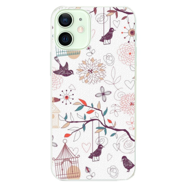 Plastové pouzdro iSaprio - Birds - iPhone 12 mini