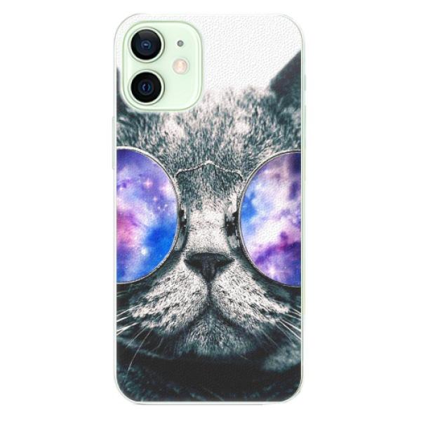 Plastové pouzdro iSaprio - Galaxy Cat - iPhone 12