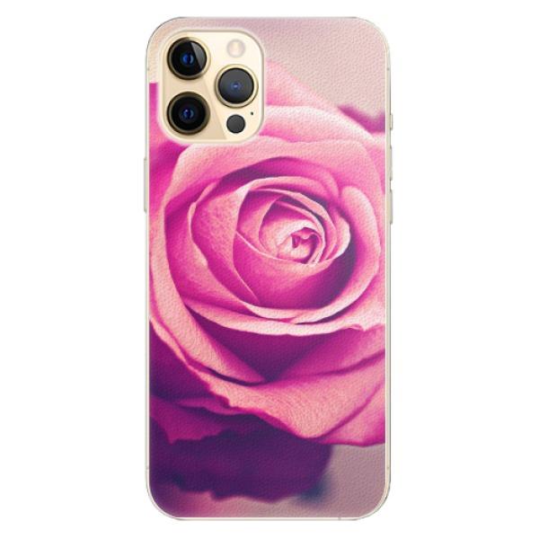 Plastové pouzdro iSaprio - Pink Rose - iPhone 12 Pro