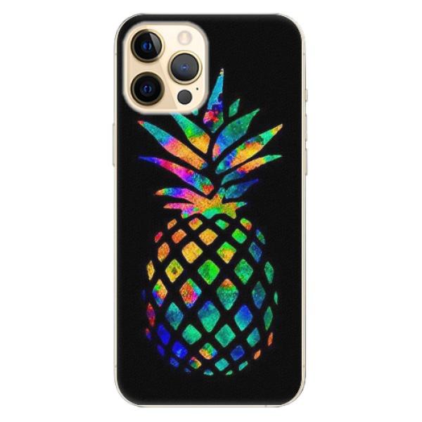 Plastové pouzdro iSaprio - Rainbow Pineapple - iPhone 12 Pro