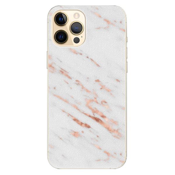 Plastové pouzdro iSaprio - Rose Gold Marble - iPhone 12 Pro