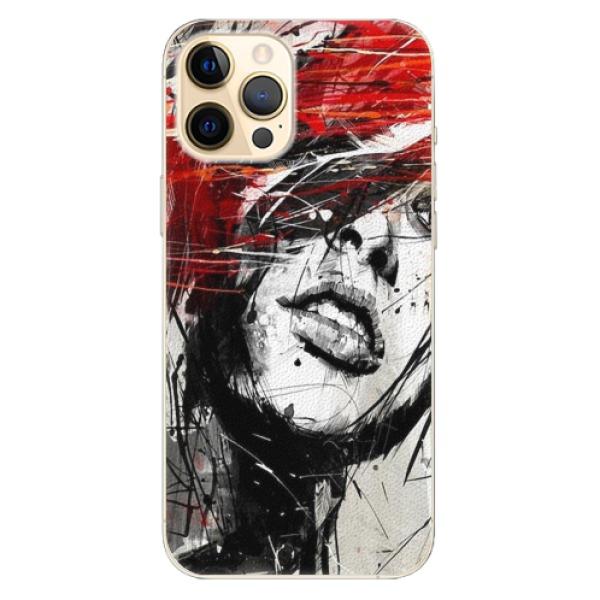 Plastové pouzdro iSaprio - Sketch Face - iPhone 12 Pro Max