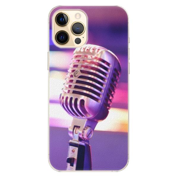 Plastové pouzdro iSaprio - Vintage Microphone - iPhone 12 Pro Max