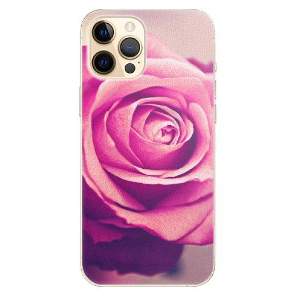 Plastové pouzdro iSaprio - Pink Rose - iPhone 12 Pro Max