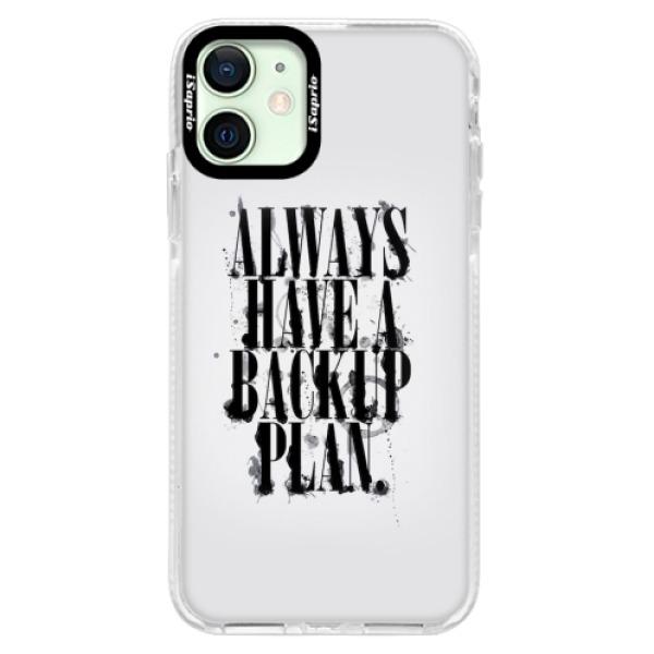 Silikonové pouzdro Bumper iSaprio - Backup Plan - iPhone 12 mini
