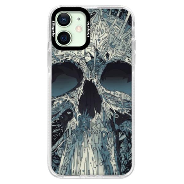 Silikonové pouzdro Bumper iSaprio - Abstract Skull - iPhone 12 mini