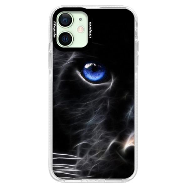 Silikonové pouzdro Bumper iSaprio - Black Puma - iPhone 12 mini