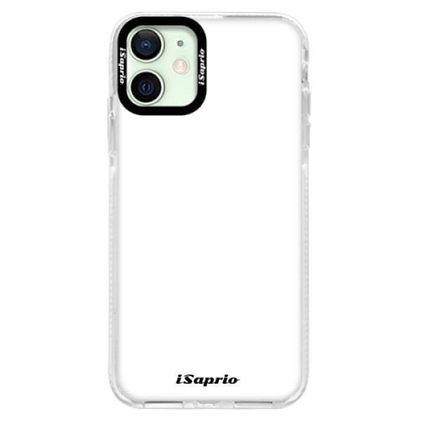 Silikonové pouzdro Bumper iSaprio - 4Pure - bílý - iPhone 12 mini