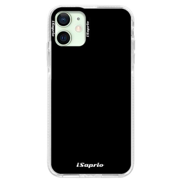 Silikonové pouzdro Bumper iSaprio - 4Pure - černý - iPhone 12 mini