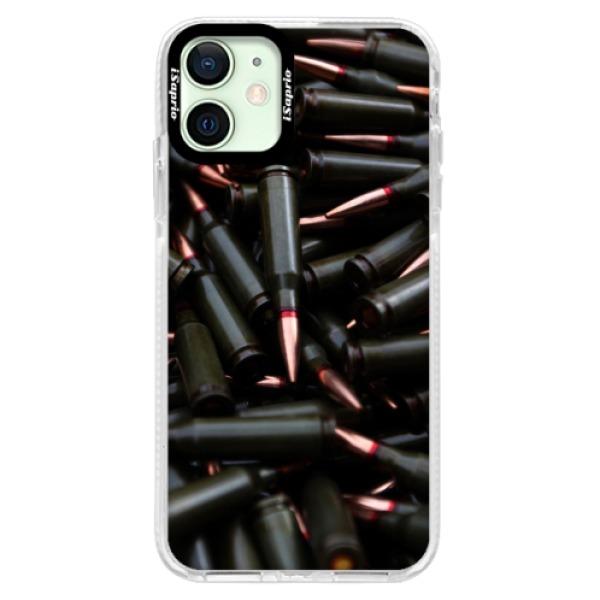 Silikonové pouzdro Bumper iSaprio - Black Bullet - iPhone 12 mini