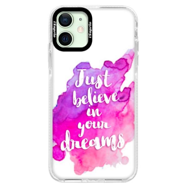 Silikonové pouzdro Bumper iSaprio - Believe - iPhone 12 mini