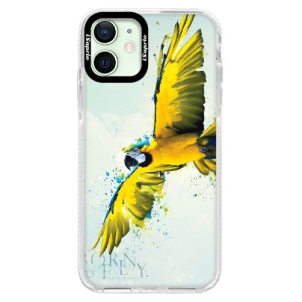 Silikonové pouzdro Bumper iSaprio - Born to Fly - iPhone 12 mini