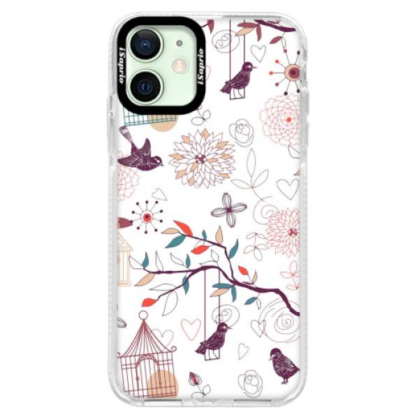 Silikonové pouzdro Bumper iSaprio - Birds - iPhone 12 mini