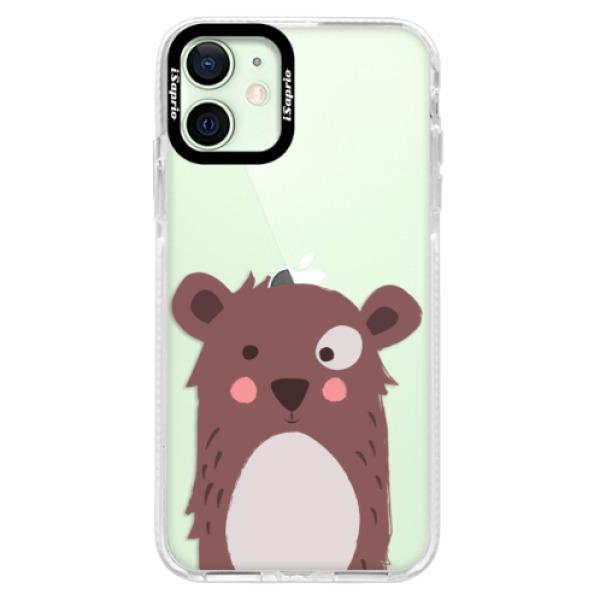 Silikonové pouzdro Bumper iSaprio - Brown Bear - iPhone 12 mini