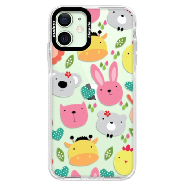 Silikonové pouzdro Bumper iSaprio - Animals 01 - iPhone 12 mini