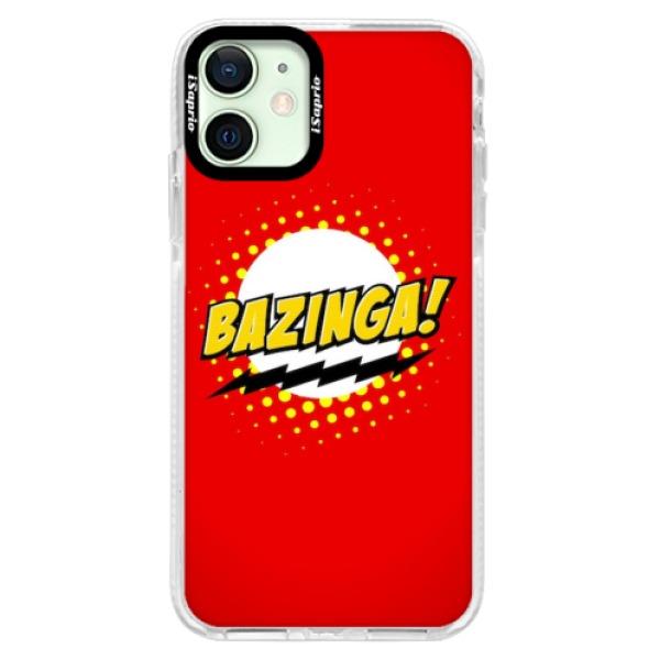 Silikonové pouzdro Bumper iSaprio - Bazinga 01 - iPhone 12