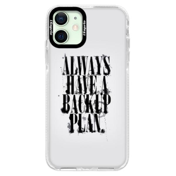 Silikonové pouzdro Bumper iSaprio - Backup Plan - iPhone 12
