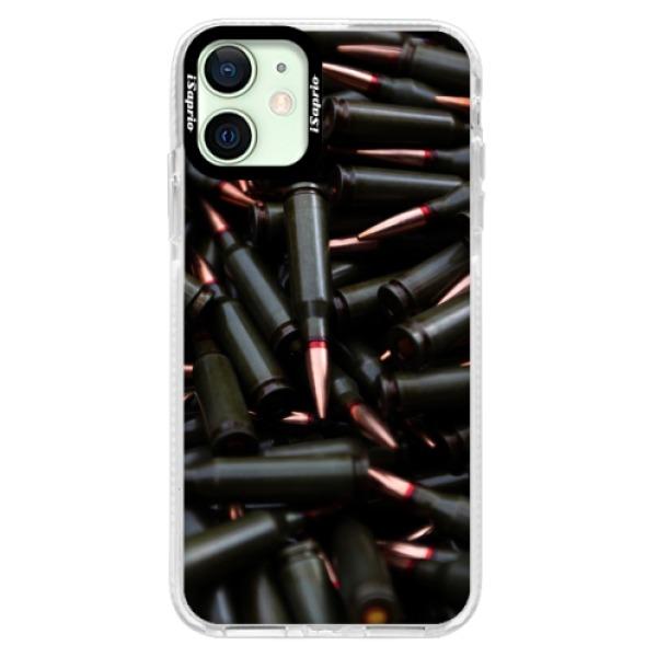 Silikonové pouzdro Bumper iSaprio - Black Bullet - iPhone 12