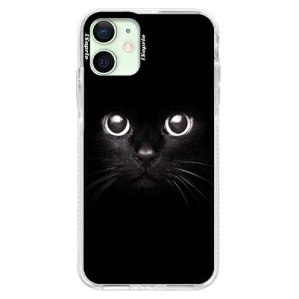 Silikonové pouzdro Bumper iSaprio - Black Cat - iPhone 12
